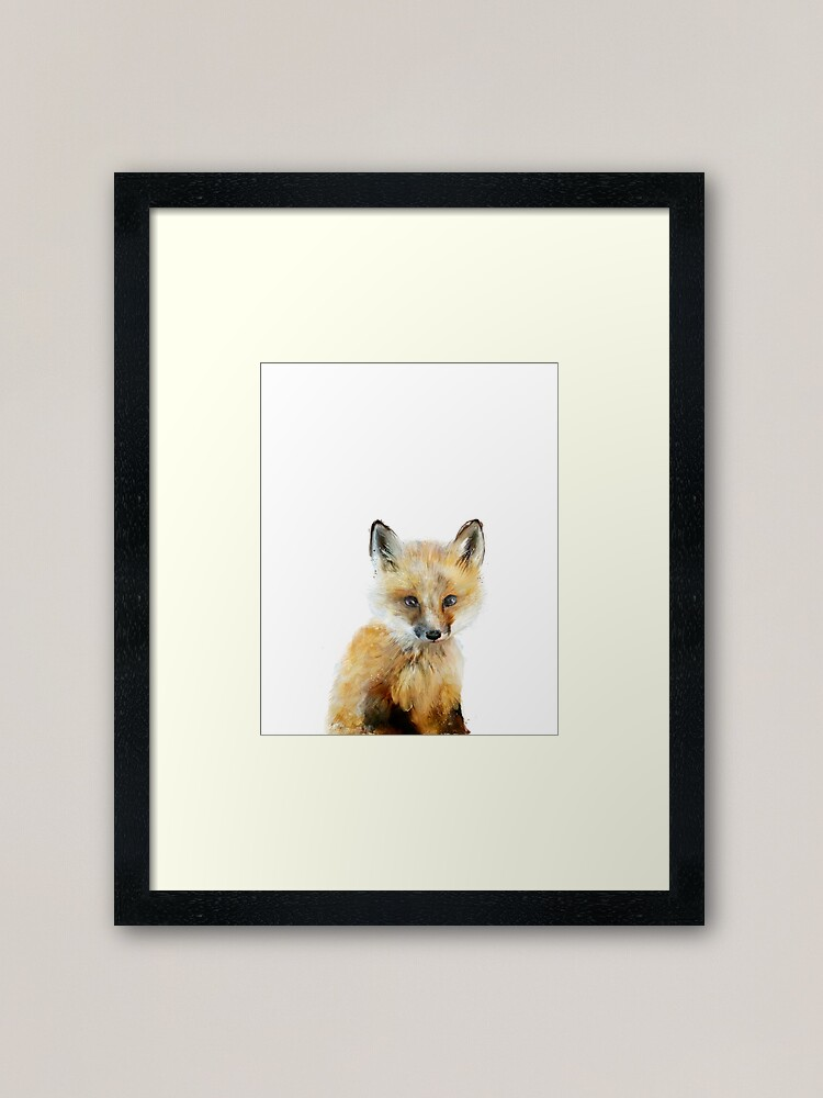Alternate view of Little Fox Framed Art Print