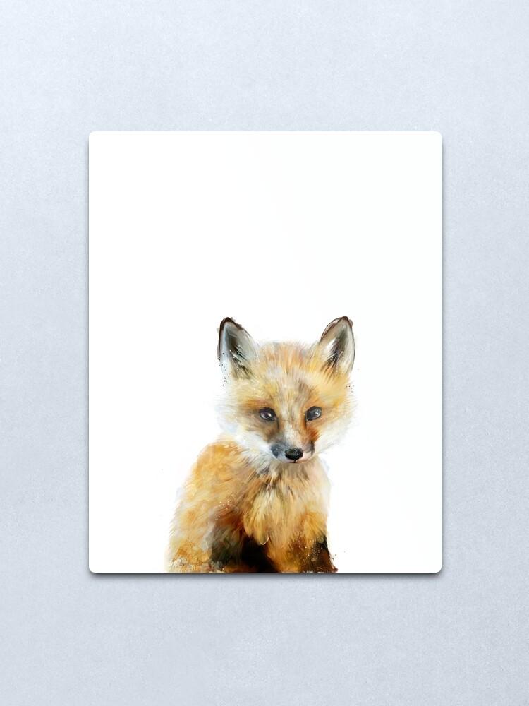 Alternate view of Little Fox Metal Print