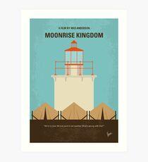 No760 - Moonrise Kingdom minimales Filmplakat Kunstdruck