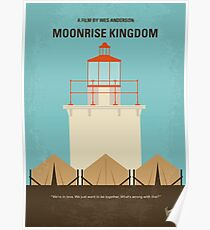 No760 - Moonrise Kingdom minimales Filmplakat Poster