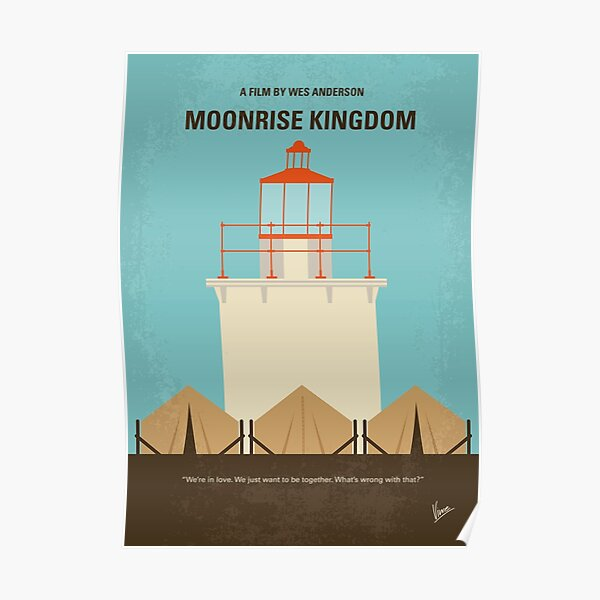 No760- Moonrise Kingdom affiche minimale du film Poster