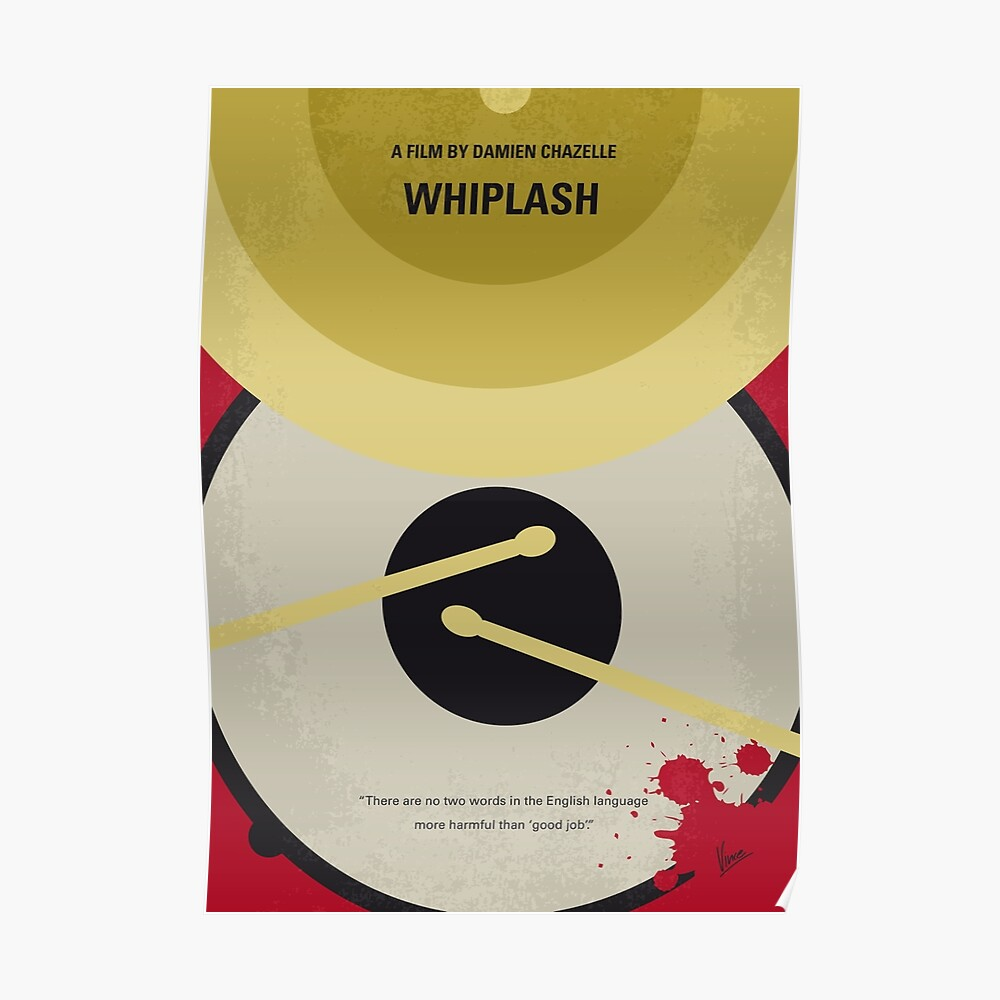No761- Whiplash minimales Filmplakat Poster