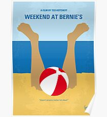 No765- Weekend at Bernies minimal movie poster Poster