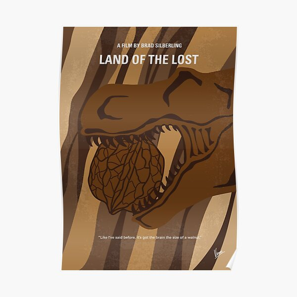 No773- Land of the Lost minimal movie poster Poster