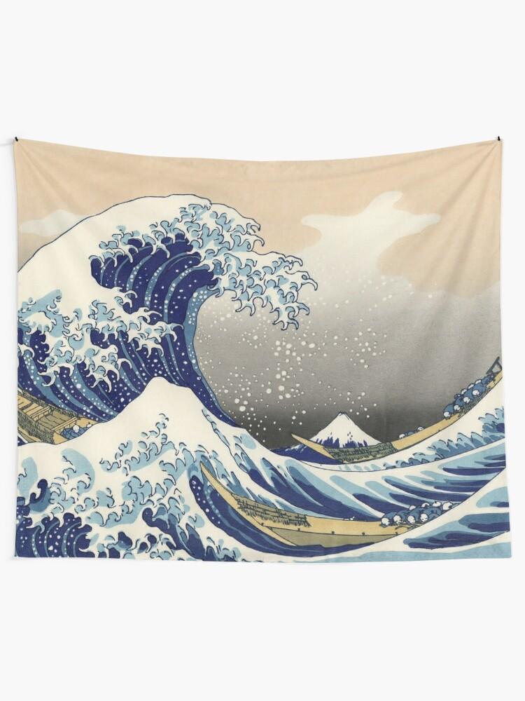 "Alternate view of Hokusai (1760-1849) ""The Great Wave off Kanagawa"" Tapestry"