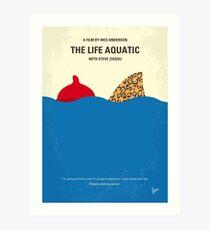 No774- The Life Aquatic with Steve Zissou minimal movie poster Art Print