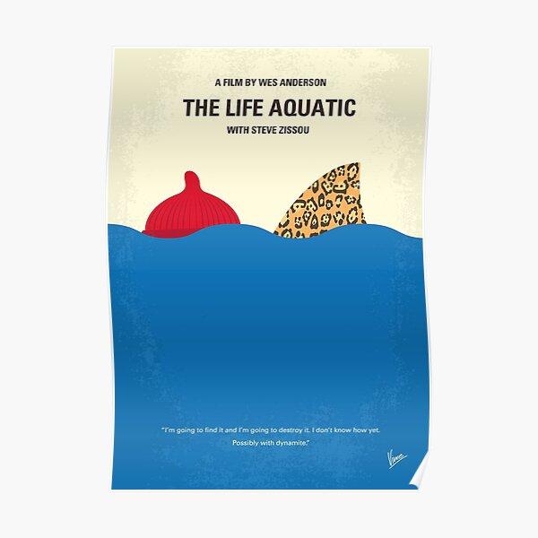 No774- The Life Aquatic with Steve Zissou minimal movie poster Poster