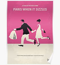 No785- Paris When it Sizzles minimal movie poster Poster
