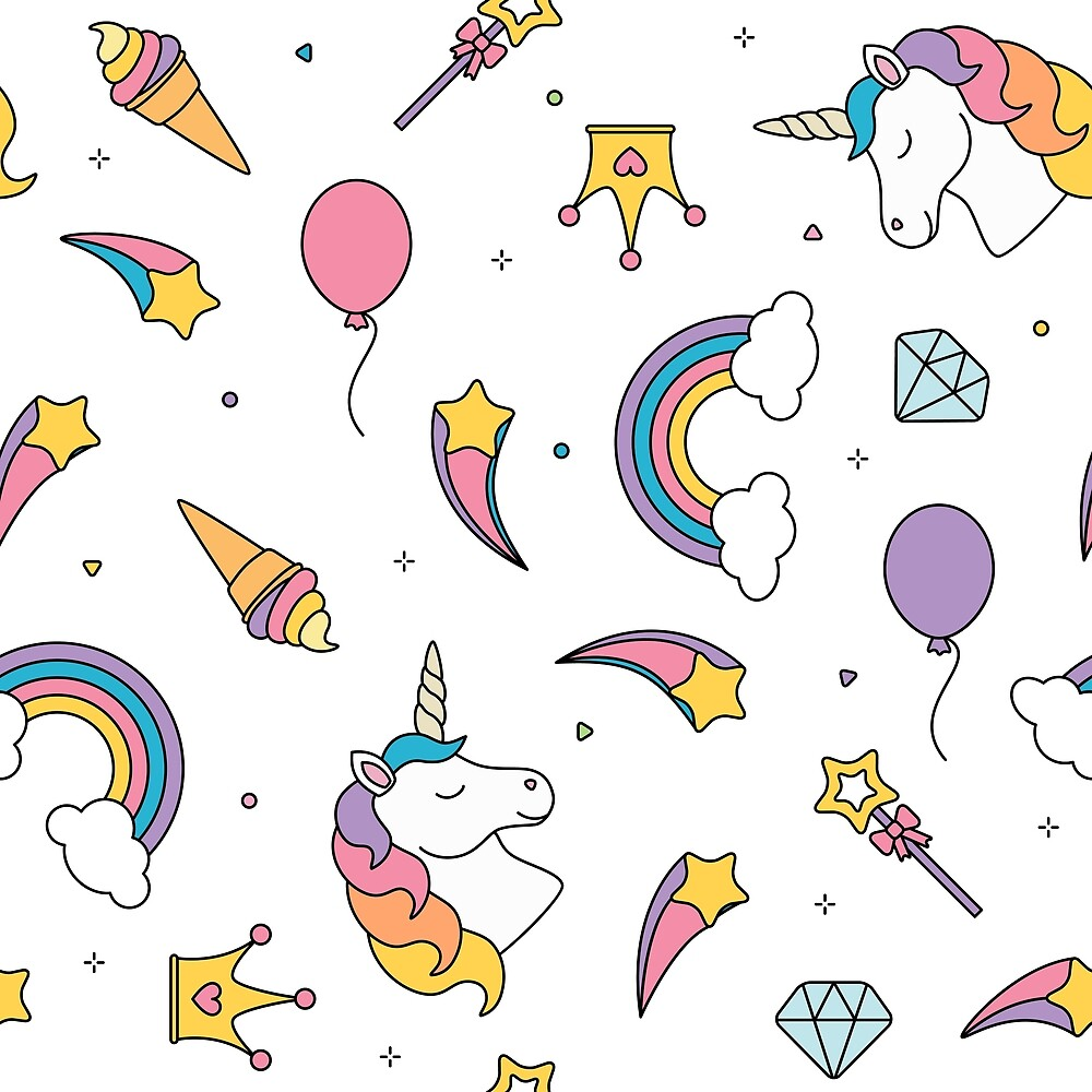 Unicorn Pattern Interesting Decorating