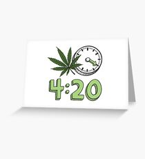 4:20 ART PRODUCTS Greeting Card