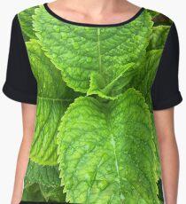Green Leaves Chiffon Top