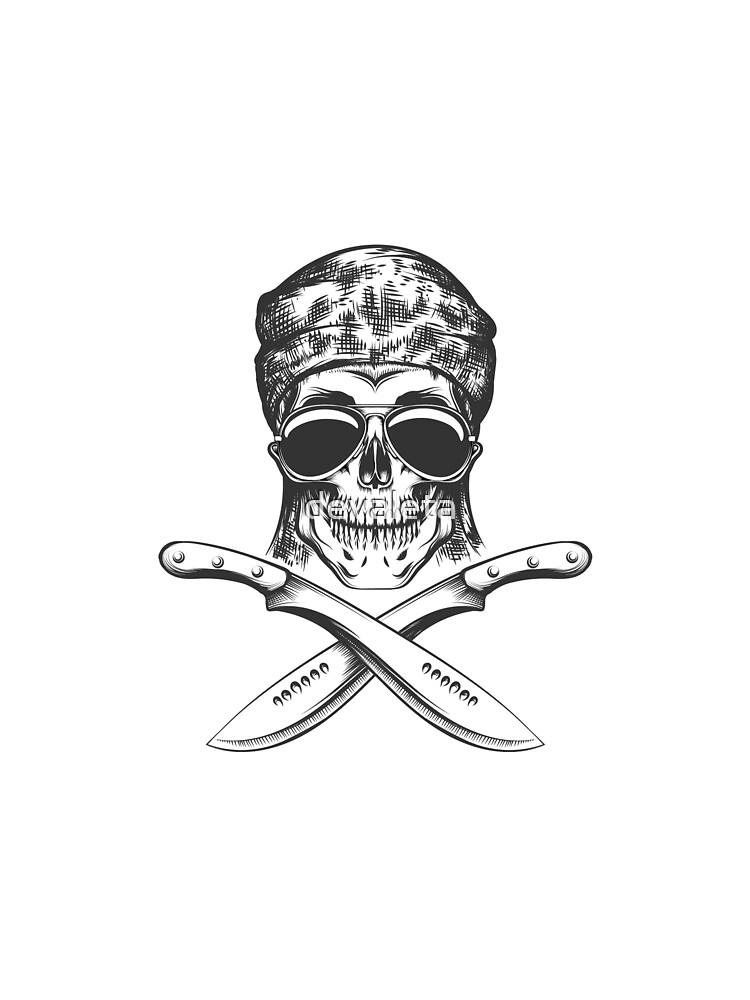 Skull with machete by devaleta