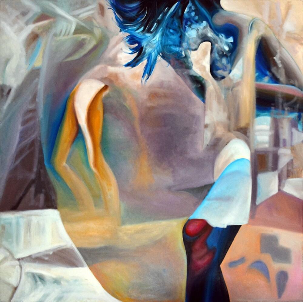 Soul searching, 2015, 100-100cm, oil on canvas by oanaunciuleanu