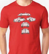 White Porsche 356 Speedster Illustration (Multiple) Unisex T-Shirt