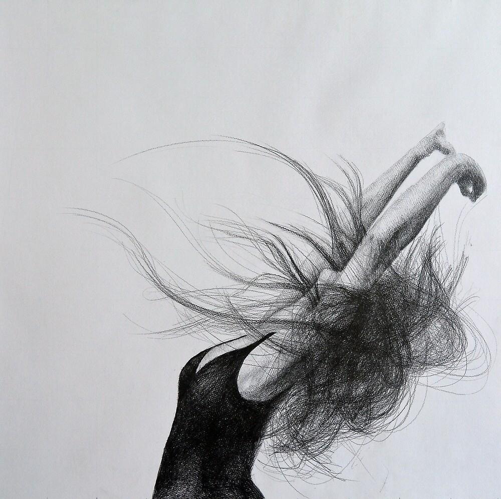 Soft flight, 2015, 50-50cm, graphite crayon on paper by oanaunciuleanu