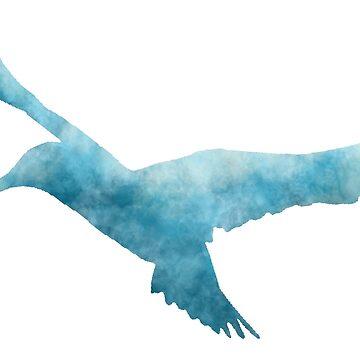 Hummingbird (Blue) by becSamways