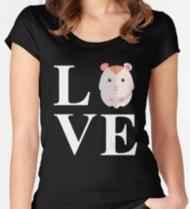 Hamster Love Women's Fitted Scoop T-Shirt