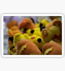 Plush toys in an arcade in Akihabara, Japan Sticker
