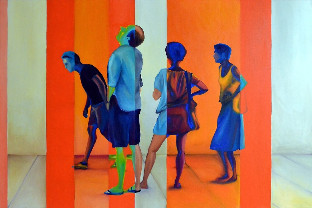 Searching for answers, 120-80cm, 2015, oil on canvas by oanaunciuleanu