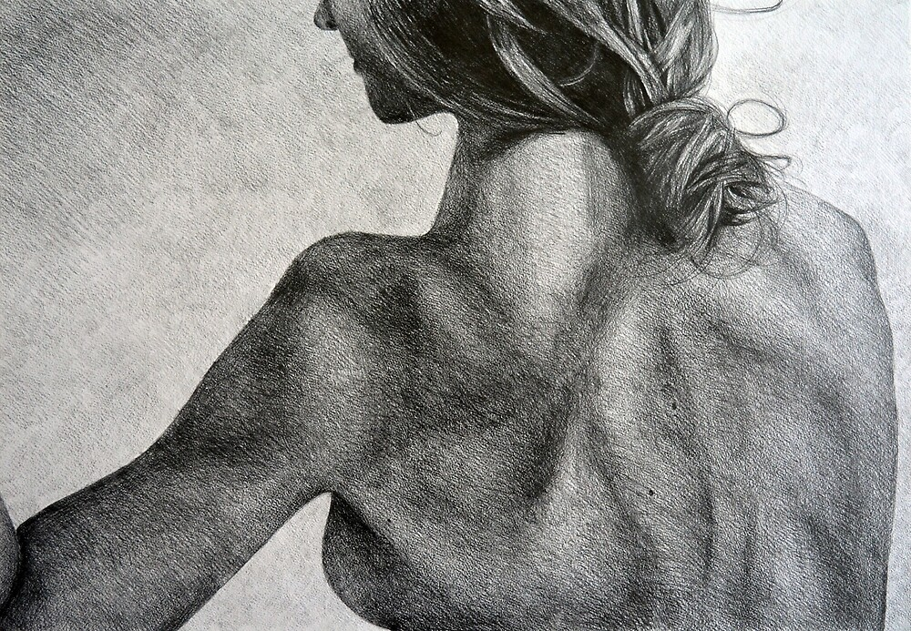 Parting, 2015, 50-70cm, graphite crayon on paper by oanaunciuleanu
