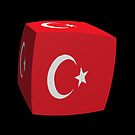 Turkish flag cubed by stuwdamdorp