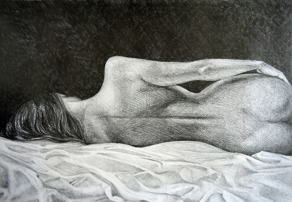 On the horizon, 2015, 50-70cm, graphite crayon on paper by oanaunciuleanu