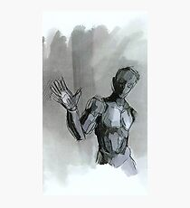 Even androids wave Photographic Print