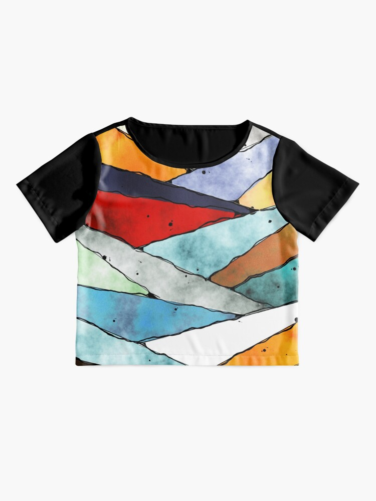 Alternate view of Angles of Textured Colors Chiffon Top