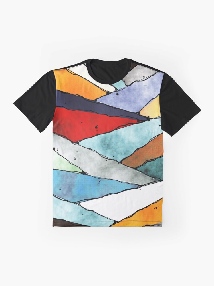 Alternate view of Angles of Textured Colors Graphic T-Shirt