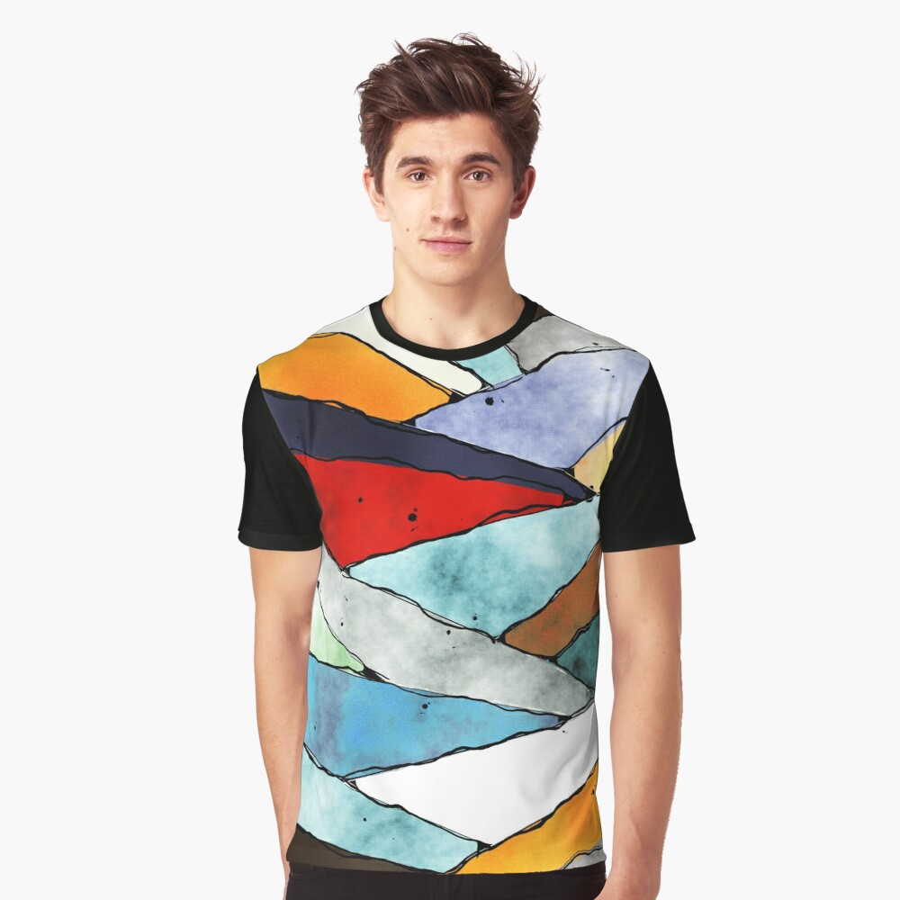 Angles of Textured Colors Graphic T-Shirt