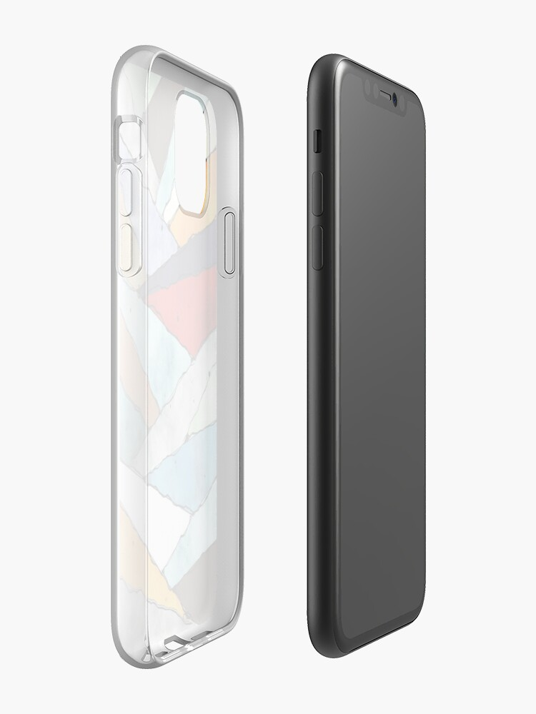Alternate view of Angles of Textured Colors iPhone Case & Cover