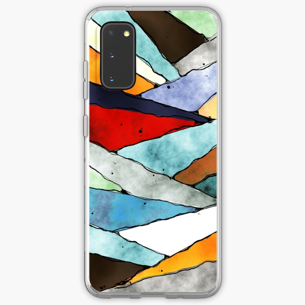 Angles of Textured Colors Case & Skin for Samsung Galaxy