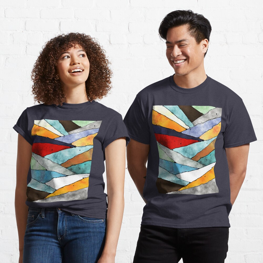 Angles of Textured Colors Classic T-Shirt