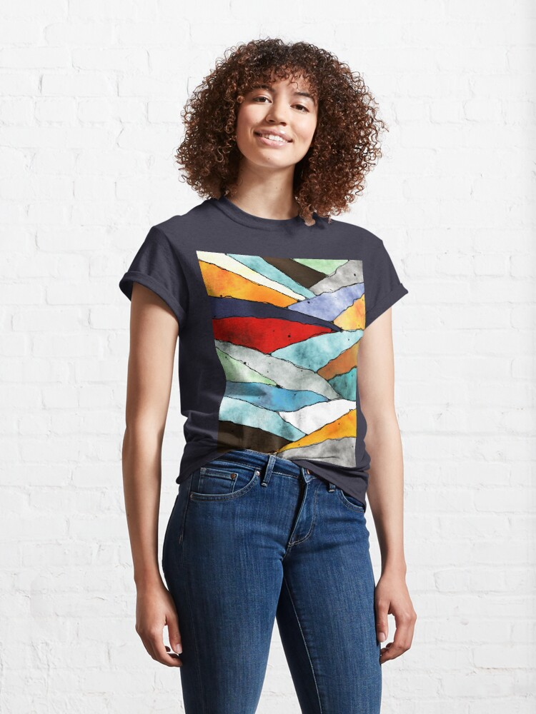 Alternate view of Angles of Textured Colors Classic T-Shirt