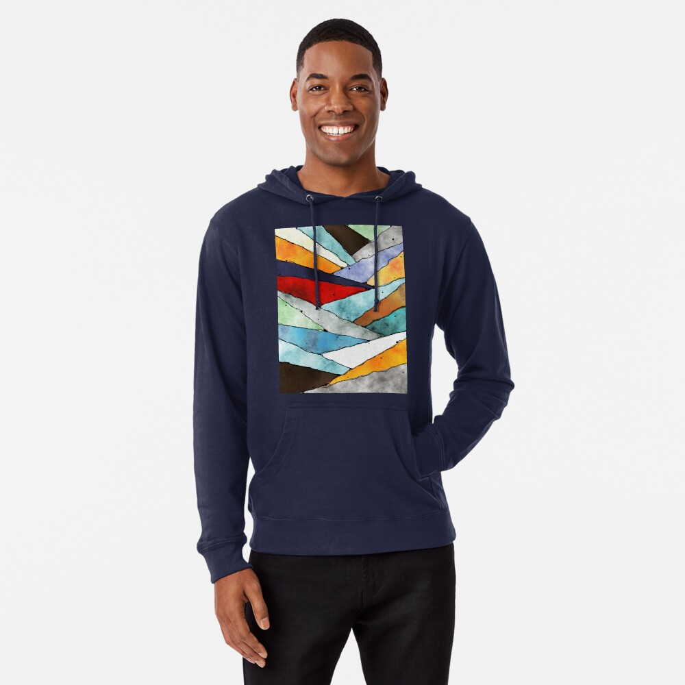 Angles of Textured Colors Lightweight Hoodie