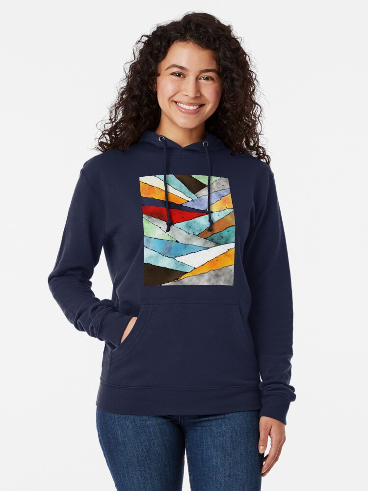 Alternate view of Angles of Textured Colors Lightweight Hoodie