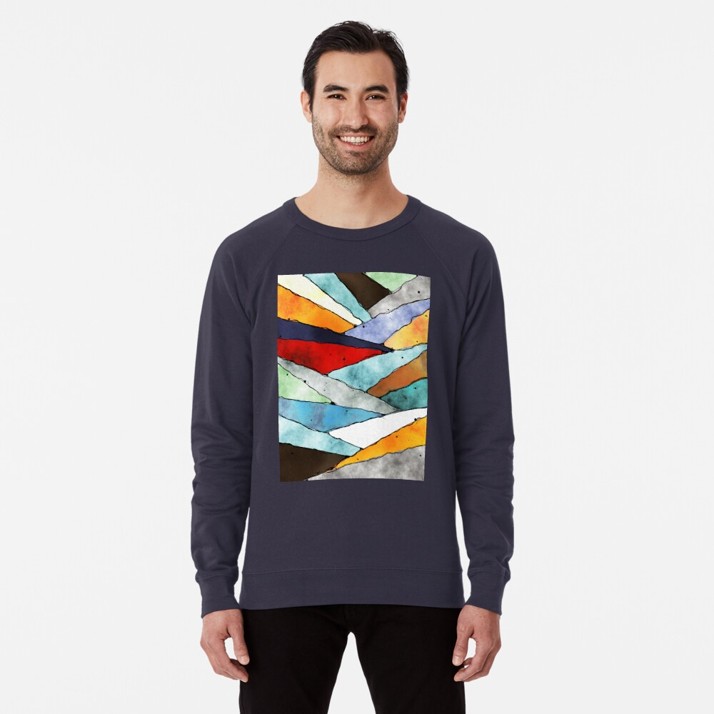 Angles of Textured Colors Lightweight Sweatshirt