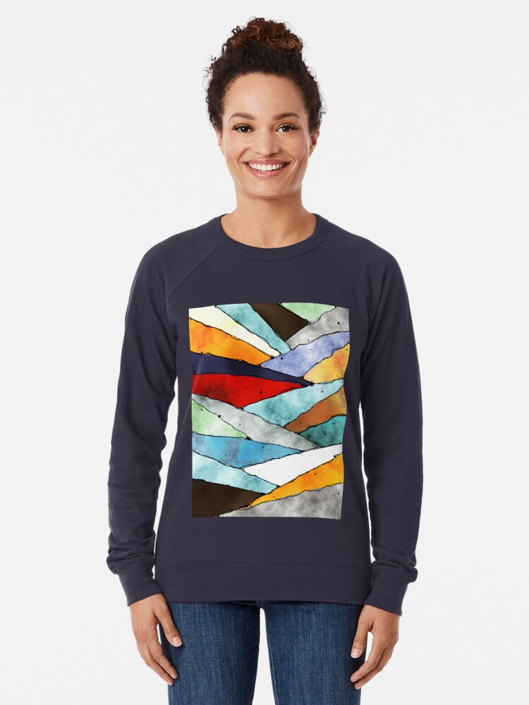 Alternate view of Angles of Textured Colors Lightweight Sweatshirt