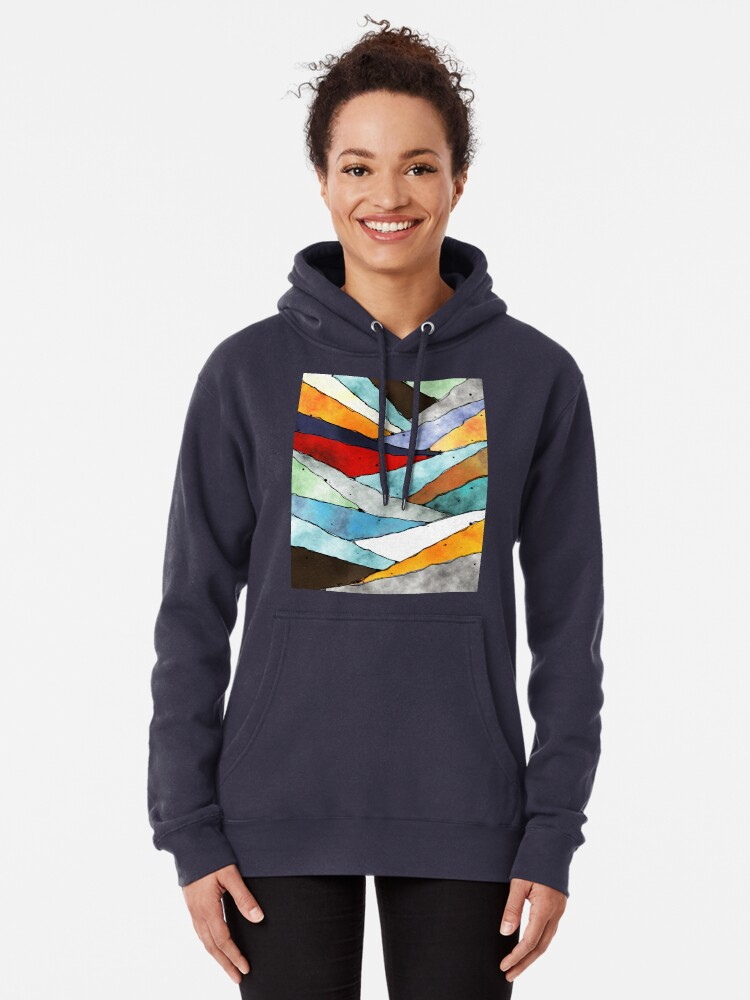 Alternate view of Angles of Textured Colors Pullover Hoodie
