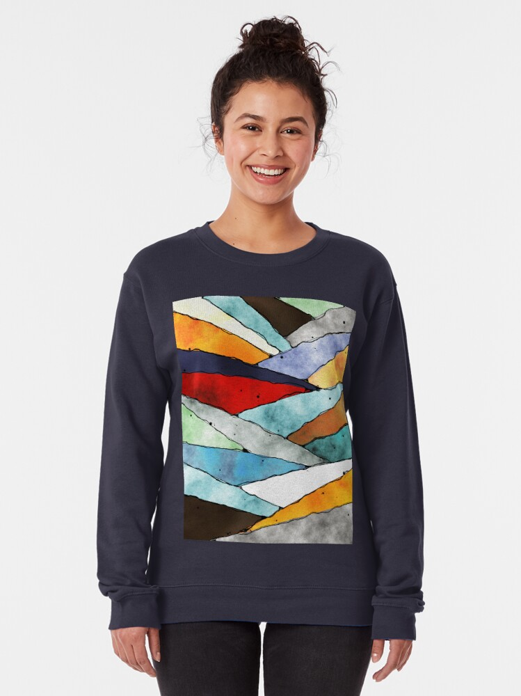 Alternate view of Angles of Textured Colors Pullover Sweatshirt