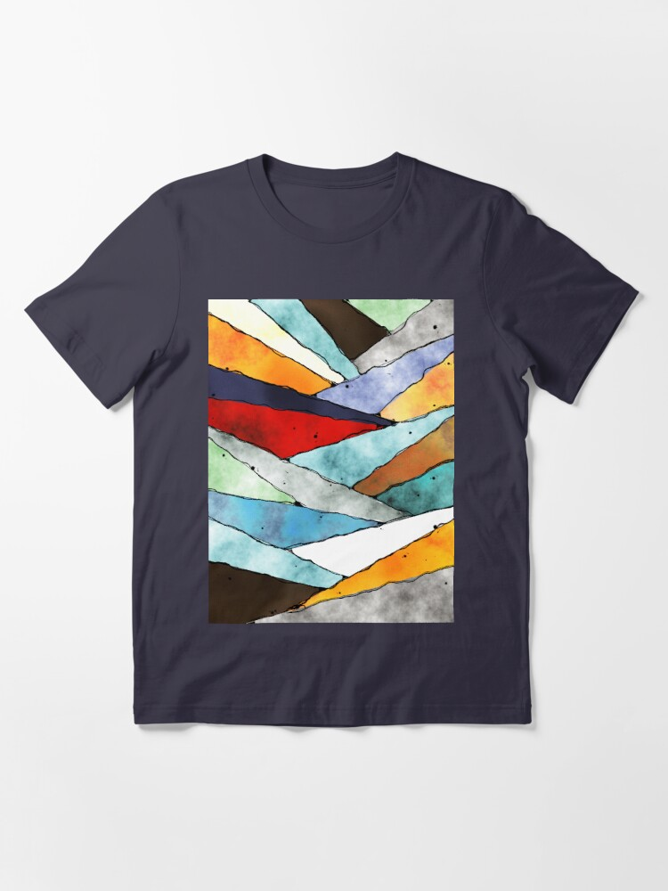Alternate view of Angles of Textured Colors Essential T-Shirt