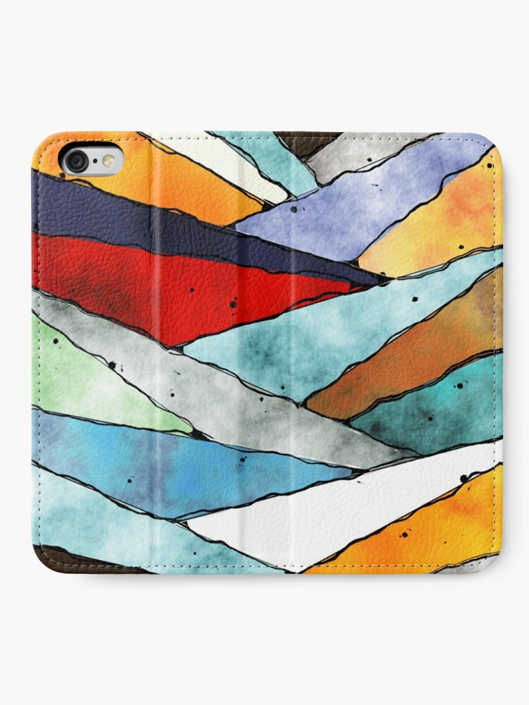 Alternate view of Angles of Textured Colors iPhone Wallet