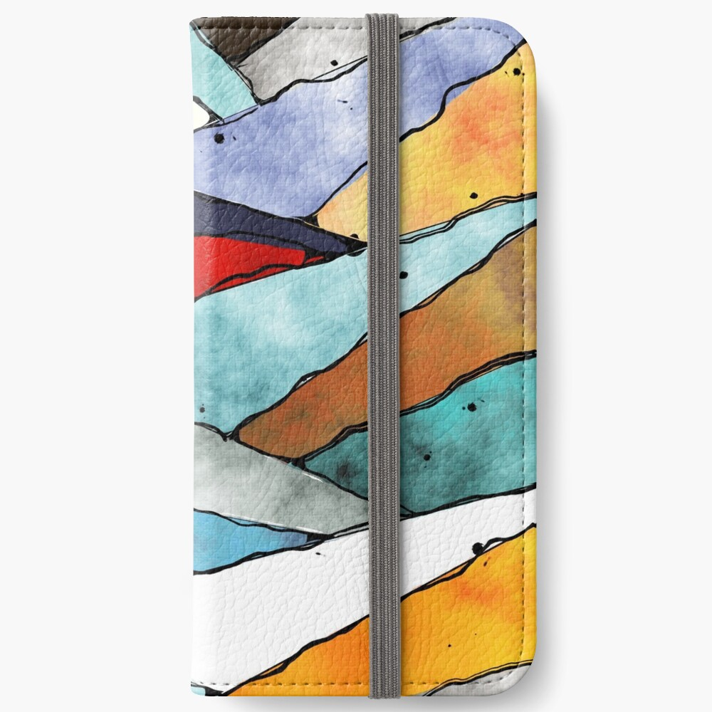 Angles of Textured Colors iPhone Wallet