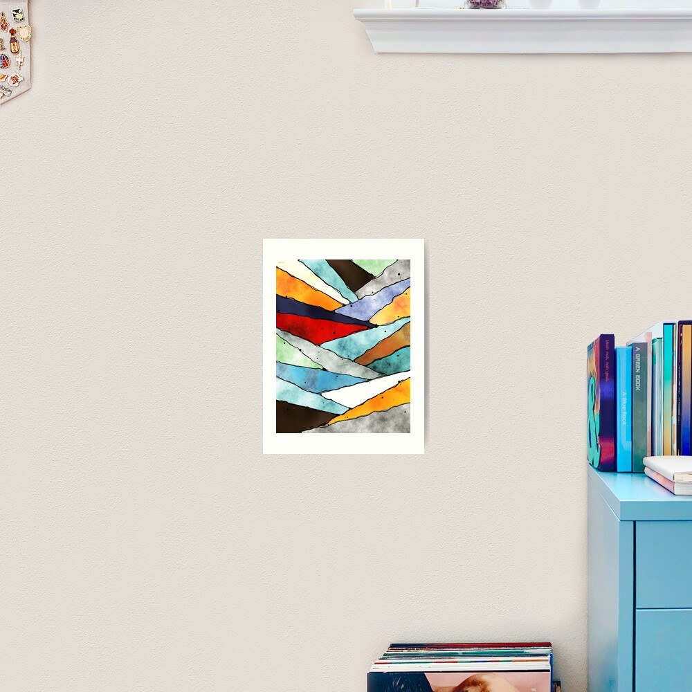 Angles of Textured Colors Art Print