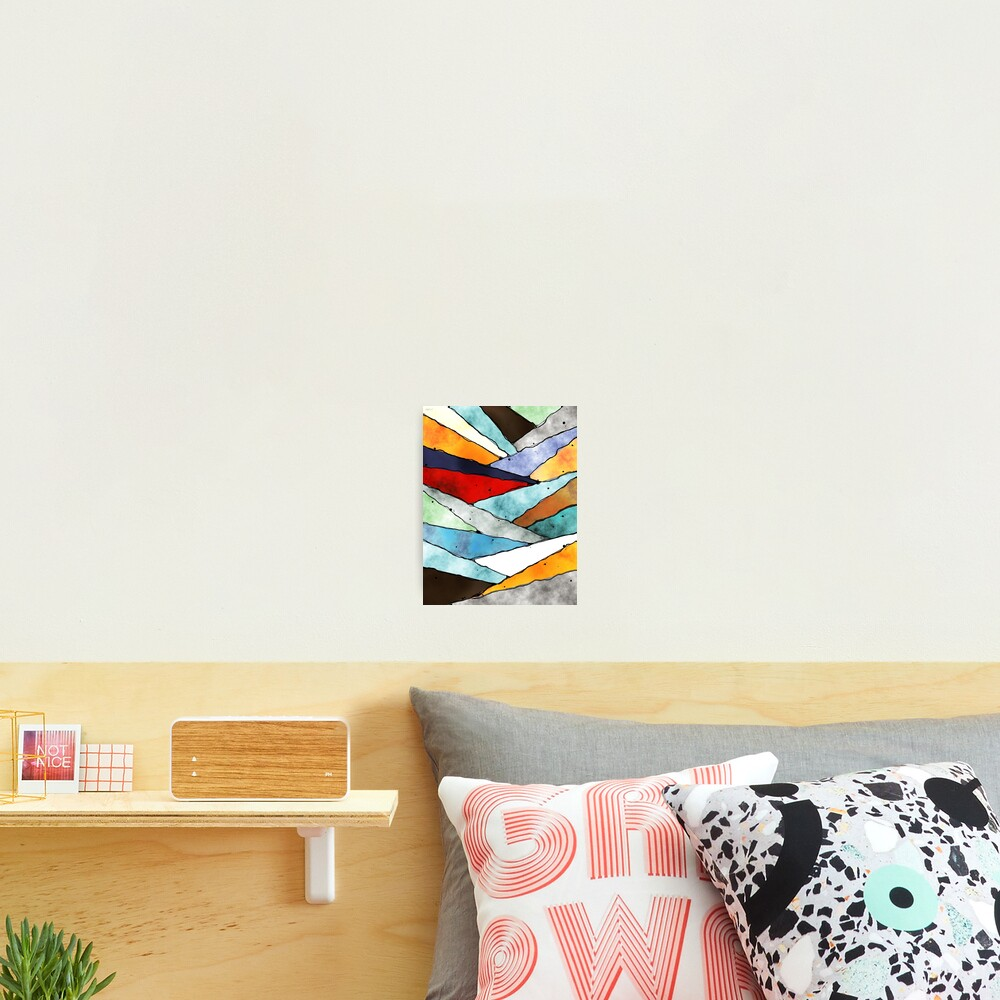 Angles of Textured Colors Photographic Print