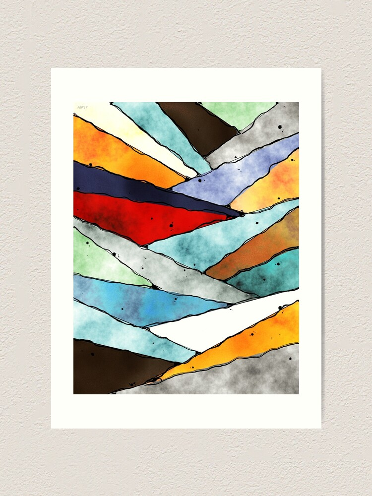 Alternate view of Angles of Textured Colors Art Print