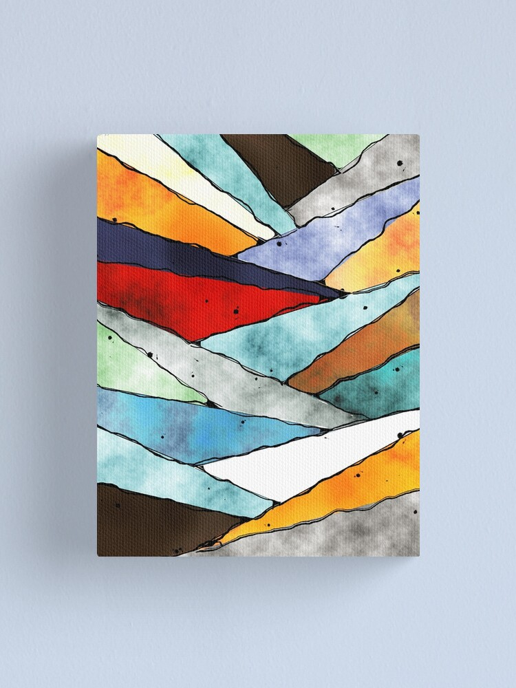 Alternate view of Angles of Textured Colors Canvas Print