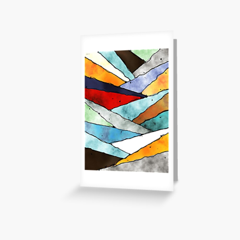 Angles of Textured Colors Greeting Card