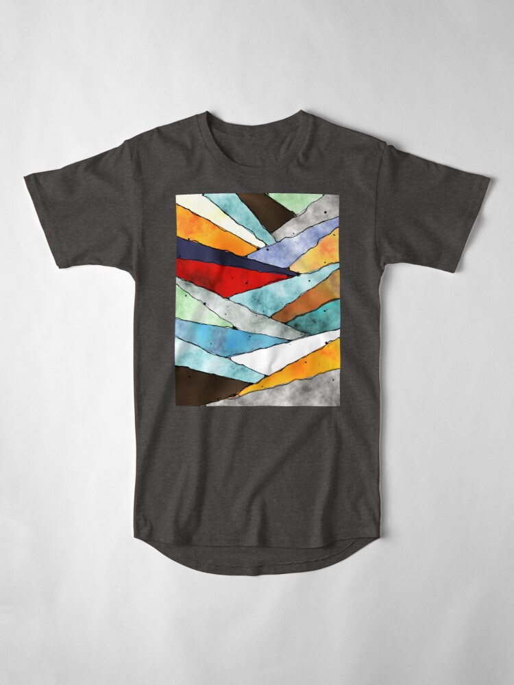 Alternate view of Angles of Textured Colors Long T-Shirt