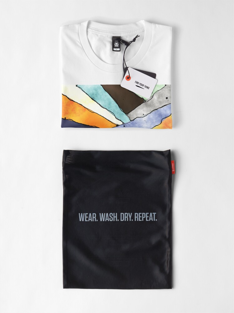 Alternate view of Angles of Textured Colors Premium T-Shirt